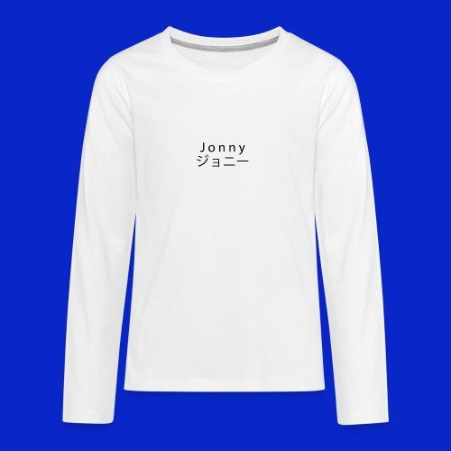 J o n n y (black) - Teenagers' Premium Longsleeve Shirt
