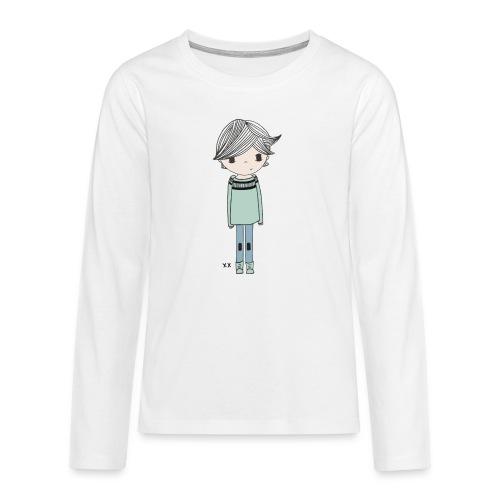 jongetje - Teenager Premium shirt met lange mouwen