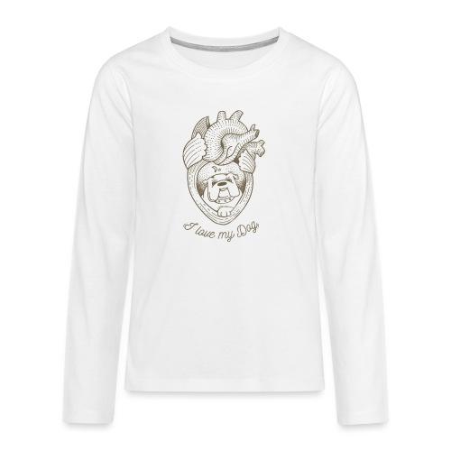 Dog_heart-png - Maglietta Premium a manica lunga per teenager