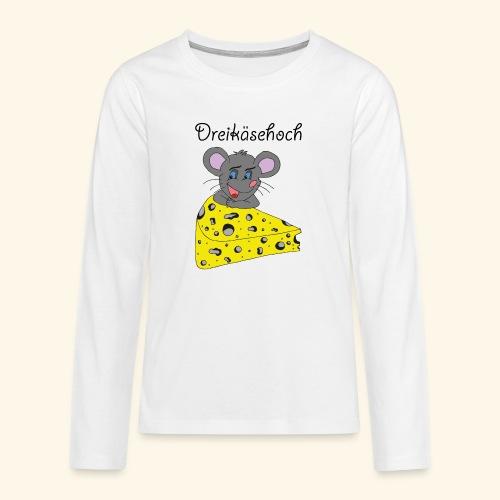 Dreikäsehoch - schwarze Schrift - Teenager Premium Langarmshirt