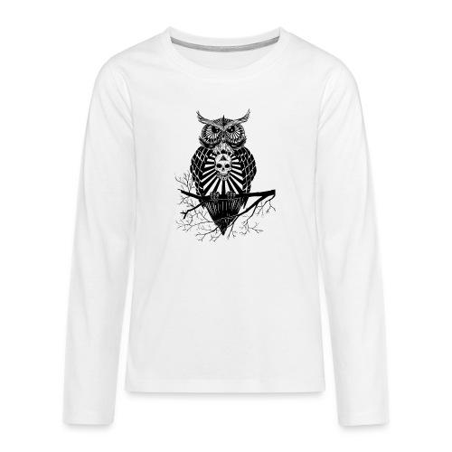 Hibou Psychédélique - T-shirt manches longues Premium Ado