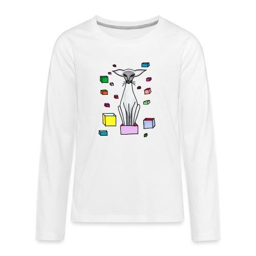 Siames i låda - Långärmad premium T-shirt tonåring