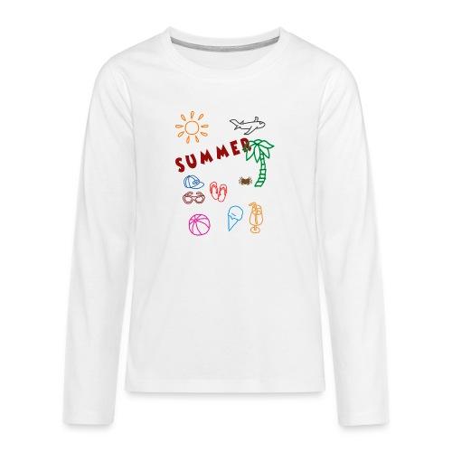 Summer - Teinien premium pitkähihainen t-paita