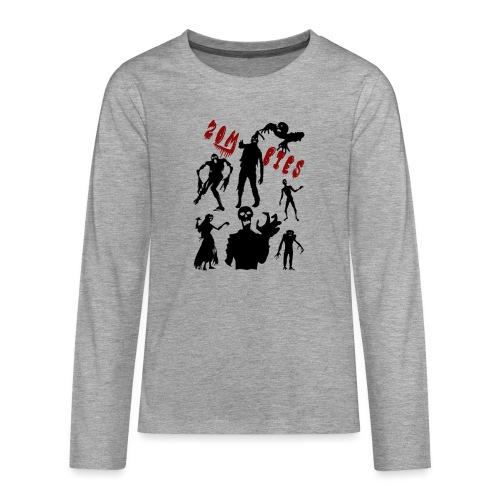 Zombies - Teinien premium pitkähihainen t-paita