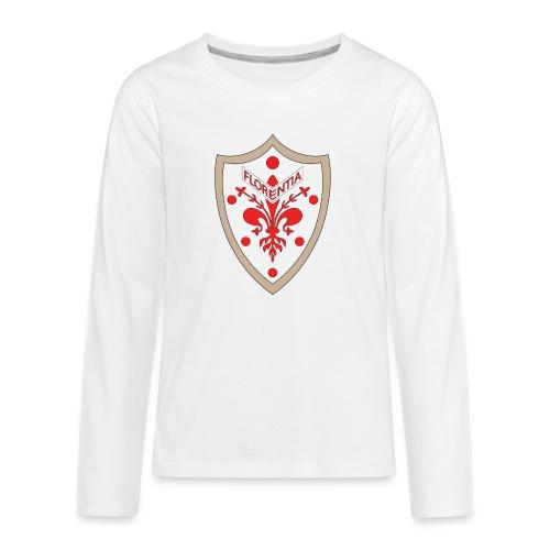 Stemma con Giglio di Firenze e con palle Medicee - Maglietta Premium a manica lunga per teenager