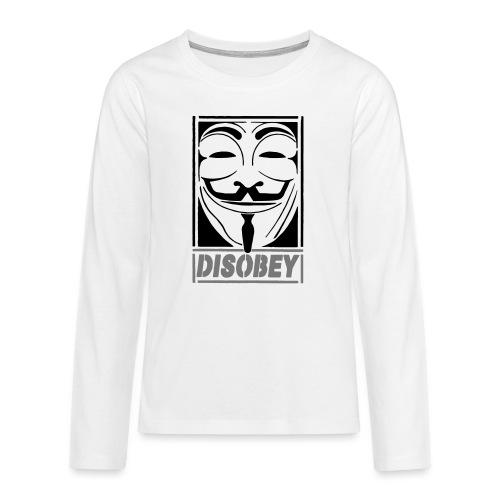 disobey - Teenager premium T-shirt med lange ærmer