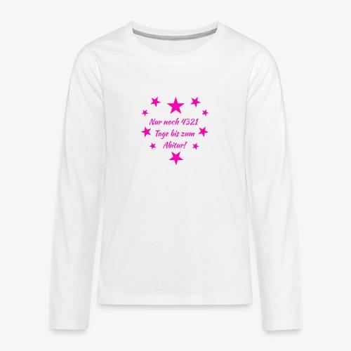 Schulanfang Pink - Teenager Premium Langarmshirt