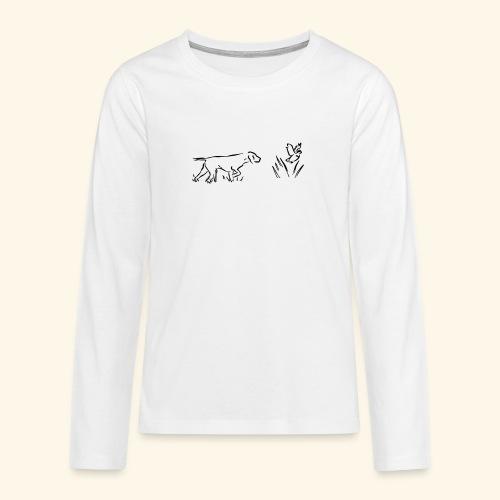 Seisoja - Teinien premium pitkähihainen t-paita