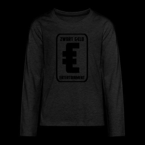 ZwartGeld Logo Sweater - Teenager Premium shirt met lange mouwen