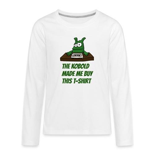 Kobold made me buy - Teenagers' Premium Longsleeve Shirt