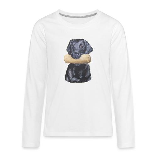 flatcoated retriever Dumbbell - Teenager premium T-shirt med lange ærmer