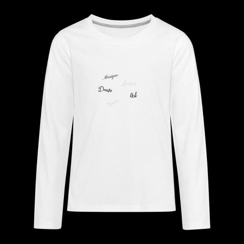 loisirs,détente. - T-shirt manches longues Premium Ado