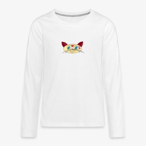 GATO PAOART - Camiseta de manga larga premium adolescente