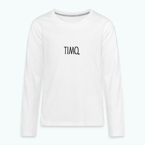 Ontwerp zonder achtergrond - Teenager Premium shirt met lange mouwen