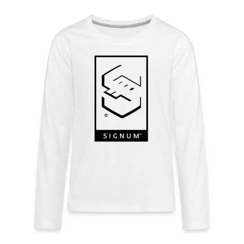 signumGamerLabelBW - Teenagers' Premium Longsleeve Shirt