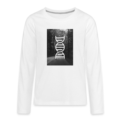 Fotoprint DNA Straße - Teenager Premium Langarmshirt