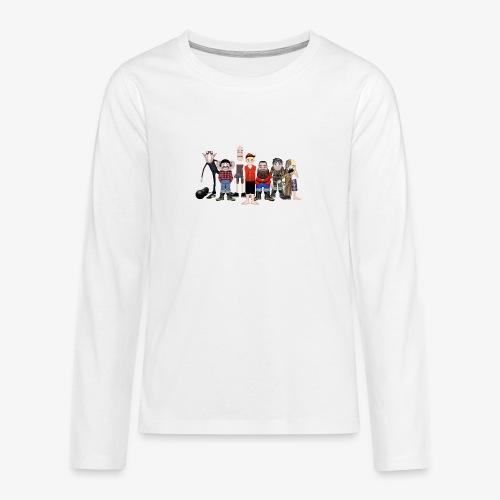 Askeladden og de gode hjelperne - Premium langermet T-skjorte for tenåringer