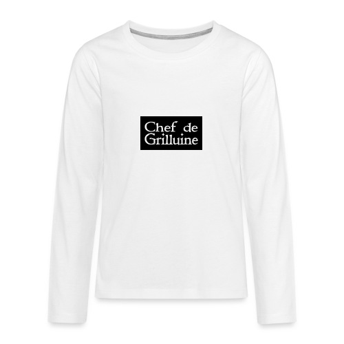Chef de Grilluine - der Chef am Grill - Teenager Premium Langarmshirt