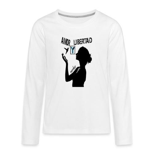 merkos libertad - Camiseta de manga larga premium adolescente