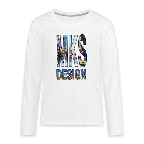 MERKOS modelo 3 - Camiseta de manga larga premium adolescente