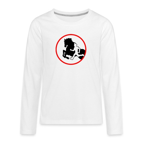 Horse Agility Logo - Teenager Premium Langarmshirt