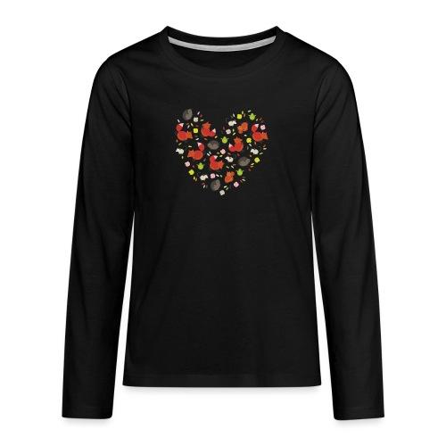 Metikössä - Teinien premium pitkähihainen t-paita
