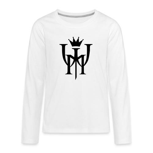 Logo MW Czarne - Koszulka Premium z długim rękawem dla nastolatków