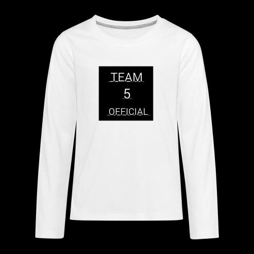 Team5 official 1st merchendise - Teenagers' Premium Longsleeve Shirt