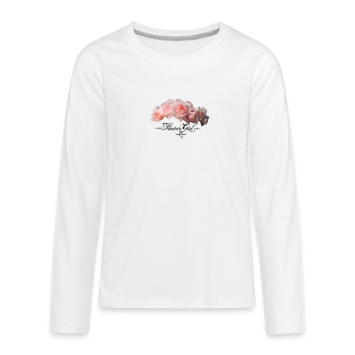 flower girl - Teenager premium T-shirt med lange ærmer