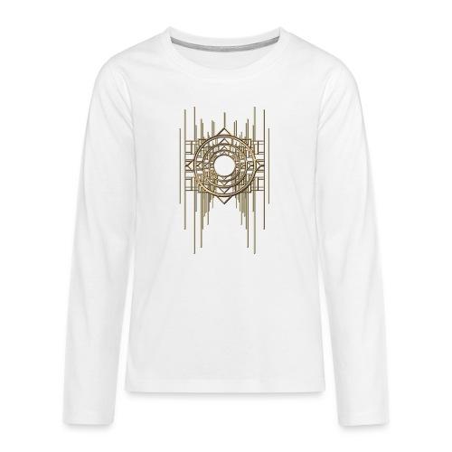 Abstract Geometry Gold Metal Art Deco Vintage - Teenagers' Premium Longsleeve Shirt