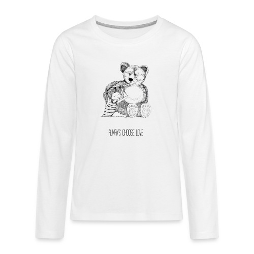bear best friend - Teenager Premium Langarmshirt