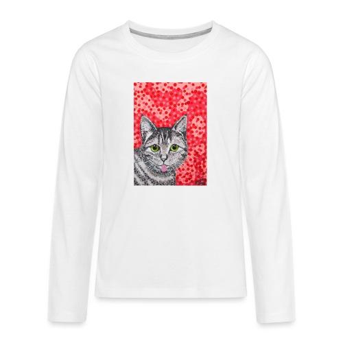 The Finnish Cat - Teinien premium pitkähihainen t-paita