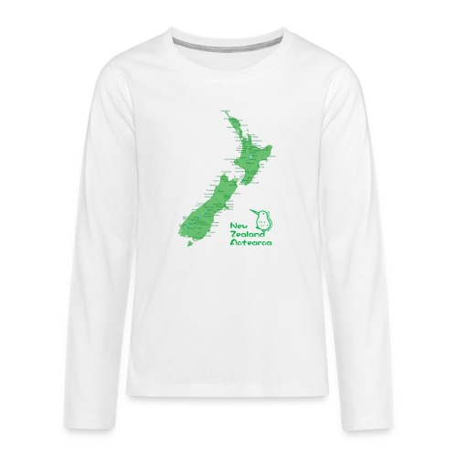 New Zealand's Map - Teenagers' Premium Longsleeve Shirt