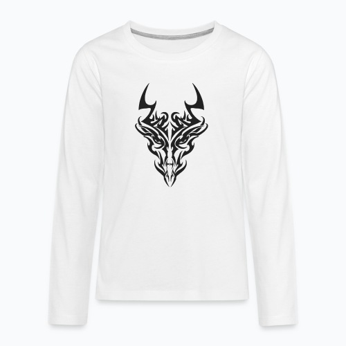 tribal dragon - T-shirt manches longues Premium Ado