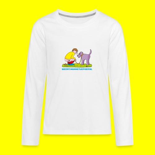 Mannetje Poep Illustratie - Teenager Premium shirt met lange mouwen