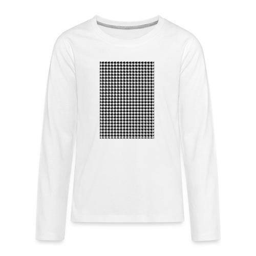 pied de poule v12 final01 - Teenager Premium shirt met lange mouwen