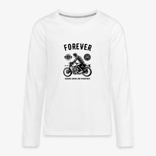 Deux roues pour toujours - T-shirt manches longues Premium Ado