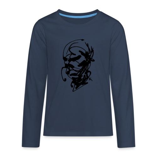 face - Teenagers' Premium Longsleeve Shirt