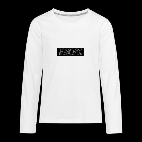 BLACK WAVY. RECTANGLE - T-shirt manches longues Premium Ado