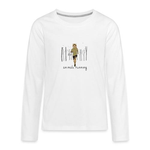 Tigre running - T-shirt manches longues Premium Ado
