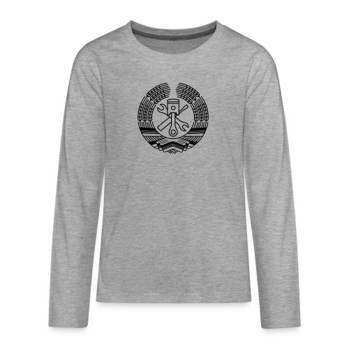 DDR Tuning Coat of Arms 1c (+ Your Text) - Teenagers' Premium Longsleeve Shirt