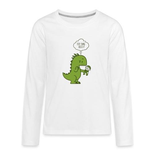Bio-Dinosaurier - Teenager Premium Langarmshirt