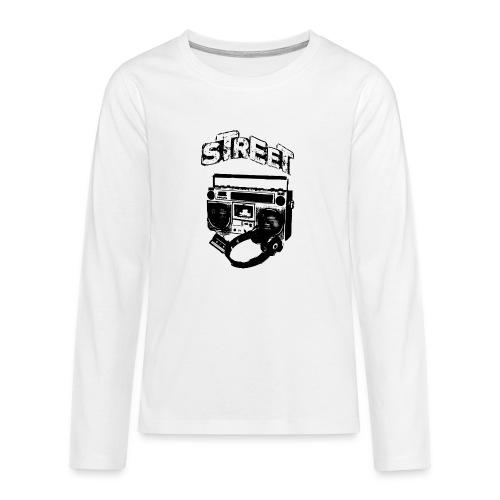 street 1 - Teenager premium T-shirt med lange ærmer