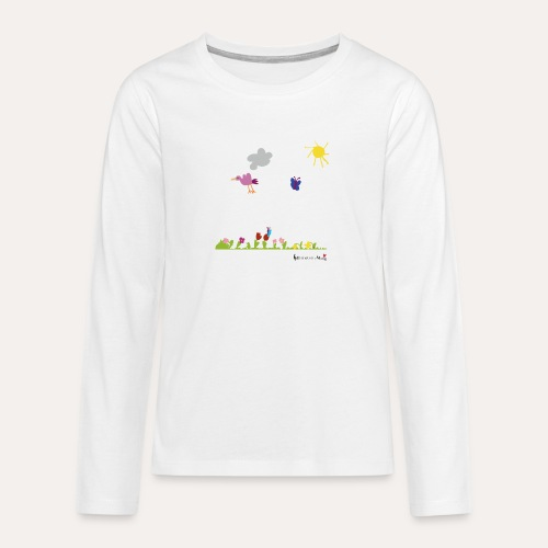 Blumenwiese von Marie - Teenager Premium Langarmshirt