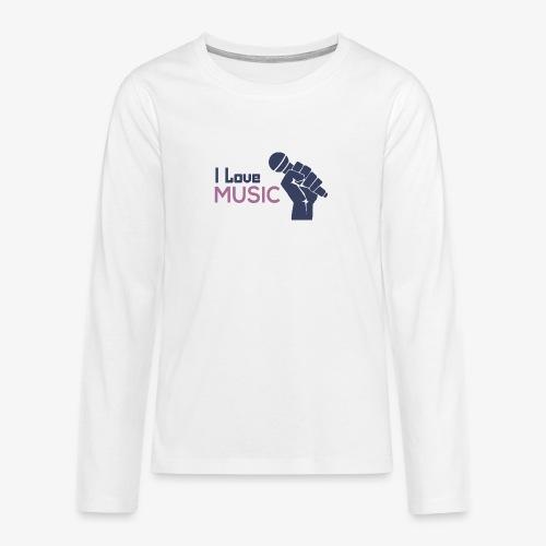 Amo la música - Camiseta de manga larga premium adolescente