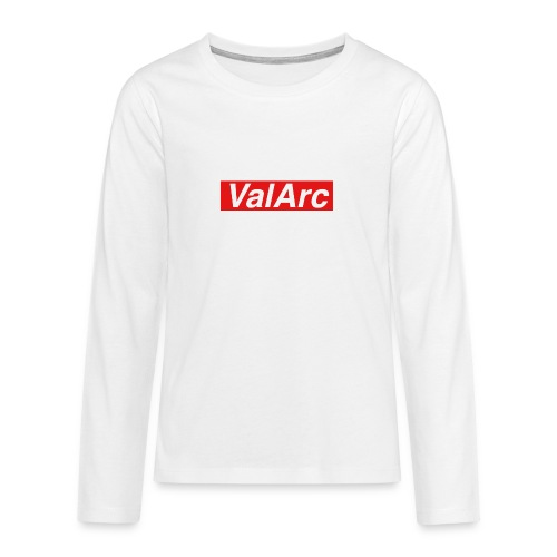 ValArc Text Merch Red Background - T-shirt manches longues Premium Ado