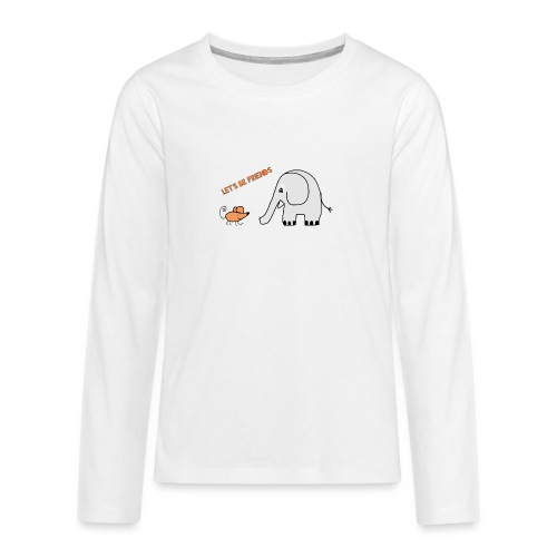Elephant and mouse, friends - Teenagers' Premium Longsleeve Shirt