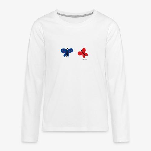 Perhoset - Teinien premium pitkähihainen t-paita