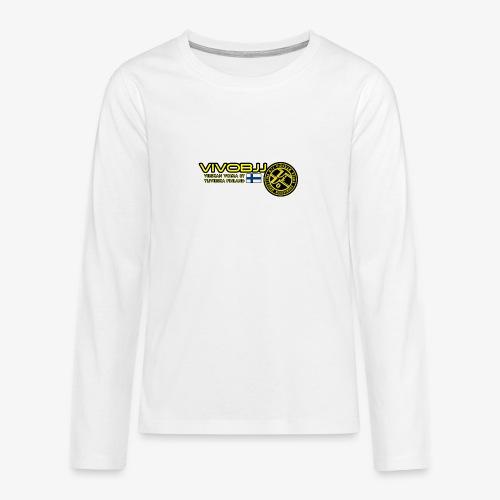 ViVoBJJ Patch White - Teinien premium pitkähihainen t-paita
