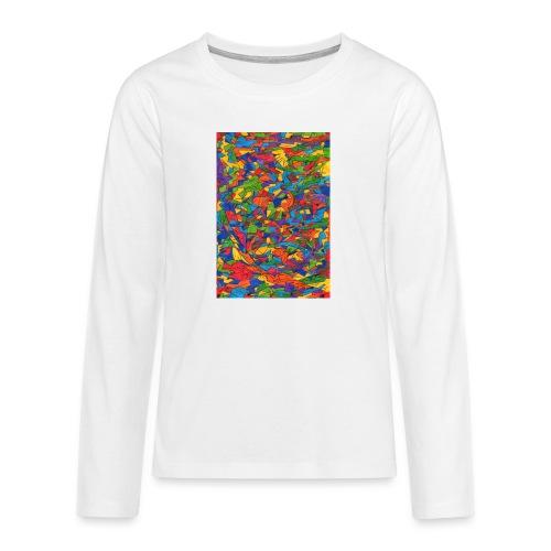 Color_Style - Camiseta de manga larga premium adolescente